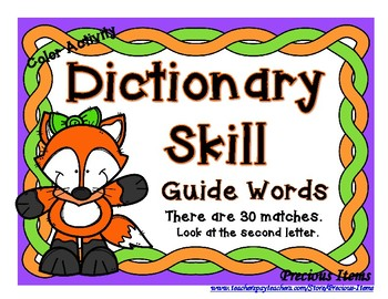 Dictionary - Guide Words - Fox