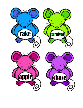 Dictionary Guide Words - Mice