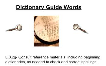 Dictionary Guide Words Practice 3rd Grade L.3.2g