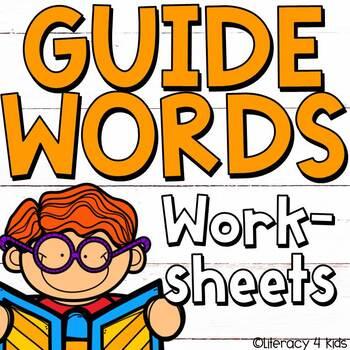 Dictionary Skills Guide Words No Prep Printables