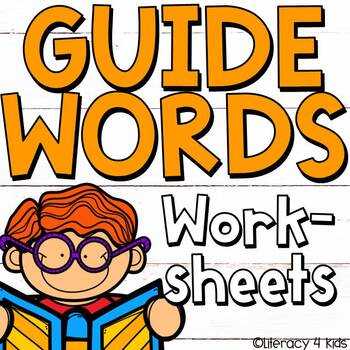 Dictionary Skills Guide Words Worksheets