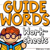 Dictionary Skills Guide Words No Prep Printables