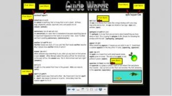 Dictionary Guide Words Smart Board Game for 2nd and 3rd Grade