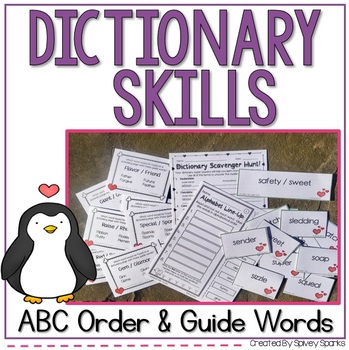 Dictionary Guide Word Activities