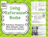 Dictionary, Index, Thesaurus, Atlas, Glossary, Encyclopedi
