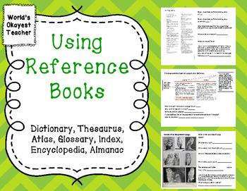 Dictionary, Index, Thesaurus, Atlas, Glossary, Encyclopedia, Almanac