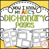 Dictionary Printables {Now I Know My ABC's Series}