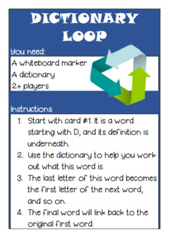 Dictionary Loop Vocabulary Game