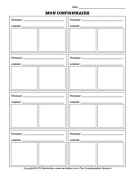Form: Dictionary Page