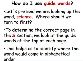 Dictionary Powerpoint and Quiz