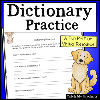 Dictionary Skills : Dictionary Practice That's Fun and Engaging