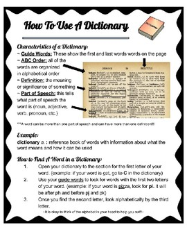 Dictionary Resource Page