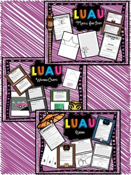 Dictionary Scavenger Hunt: Luau Theme