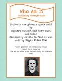 Dictionary Scavenger Hunt Riddle for Edgar Allan Poe