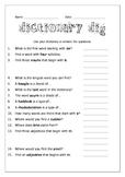 Dictionary Scavenger Hunt Worksheet