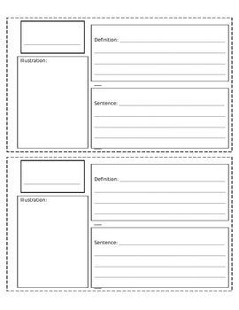 Dictionary Sheet