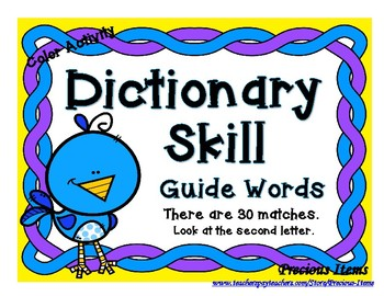 Dictionary Skill - Guide Words - Bird