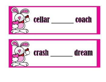 Dictionary Skill - Guide Words - Bunnies