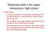 Dictionary Skills 1