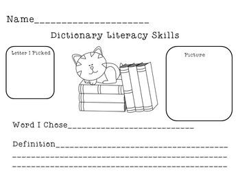 Dictionary Skills Worksheets | Dictionary Skills Activities