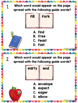 Dictionary Skills Activities: Task Cards and Anchor Charts