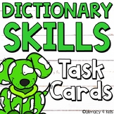 Dictionary Skills Task Cards (Dog Themed)