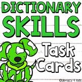 Dictionary Skills Task Cards (Dog Themed)
