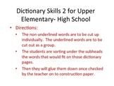 Dictionary Skills 2
