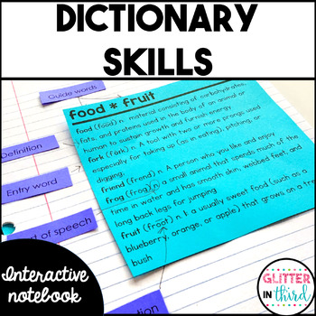 Dictionary Skills - Reading Interactive Notebook