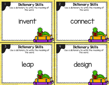 Dictionary Skill Task Cards - L.2.4.E