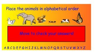 Dictionary Skills - Alphabetizing - Notebook interactive challenge