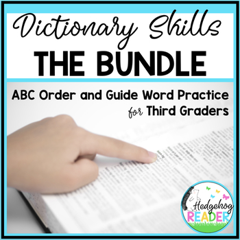 Dictionary Skills Bundle - ABC Order & Guide Words Activities