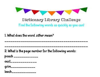 Dictionary Skills Challenge