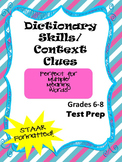 Dictionary Skills & Context Clues STAAR formatted questions for TEK 6.2E