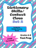 Dictionary Skills & Context Clues Set 2 - STAAR formatted questions for TEK 6.2E