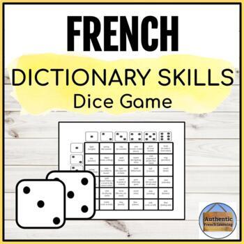 Dictionary Skills Dice Game