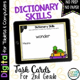 Dictionary Skills Task Cards: 2nd Grade Vocabulary for Google Classroom Use