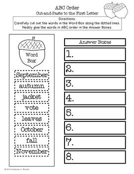 Fall into Autumn Math & Literacy Activities - CCSS Third Grade