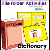 Dictionary Skills - File Folder Activity