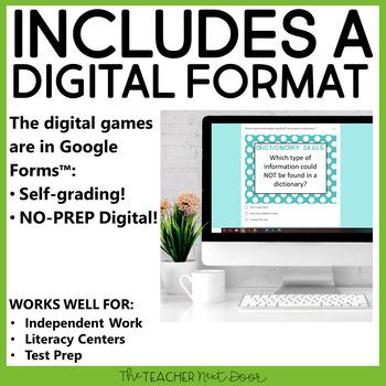 Dictionary Skills Game | Dictionary Skills Center | Dictionary Skills Activities