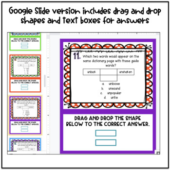 Dictionary Skills: Guide Words & ABC Order Task Cards with QR Codes