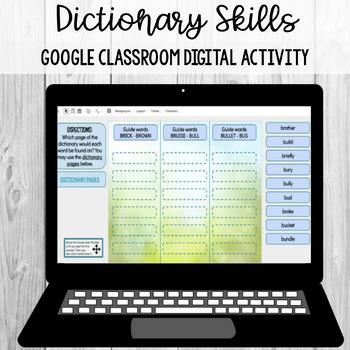 Dictionary Skills (Guide Words) Sort: Google Classroom Digital Activity
