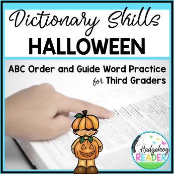 Dictionary Skills - Halloween ABC Order CCSS Activity