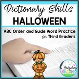 Dictionary Skills - Halloween ABC Order CCSS Activity
