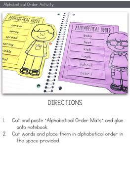 Dictionary Skills Interactive Notebook