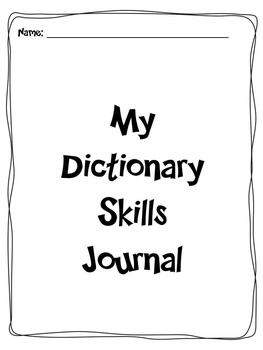 Dictionary Skills Journal