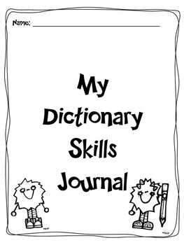 Dictionary Skills Journal Supplement