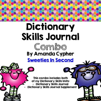 Dictionary Skills Journal and Supplement Combo
