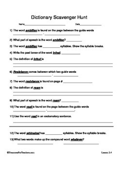 Dictionary Skills Lesson 2.4