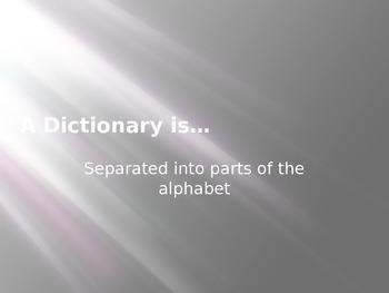 Dictionary Skills PowerPoint